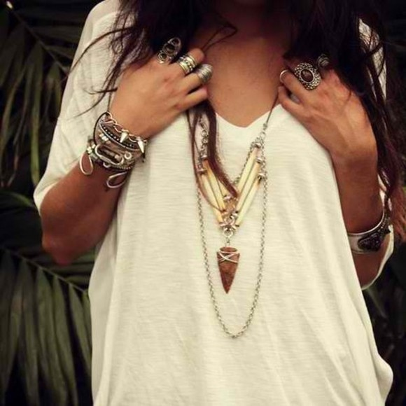 shirt jewels necklace collier bohemian style boho bohemian rings swimwear