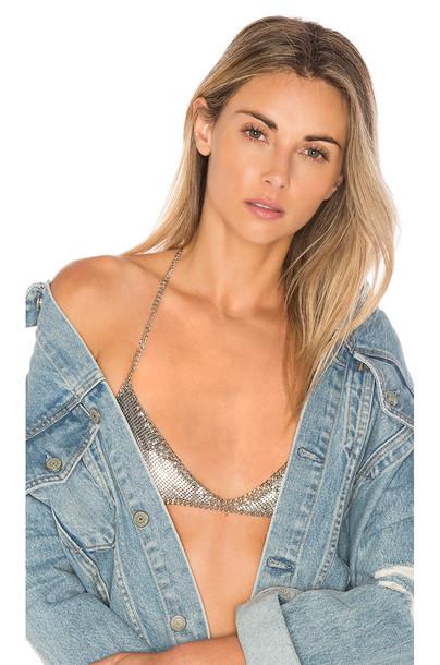 8 Other Reasons bralette metallic silver underwear