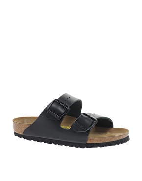 Birkenstock | Birkenstock Arizona Black Leather Two Strap Sandals at ASOS