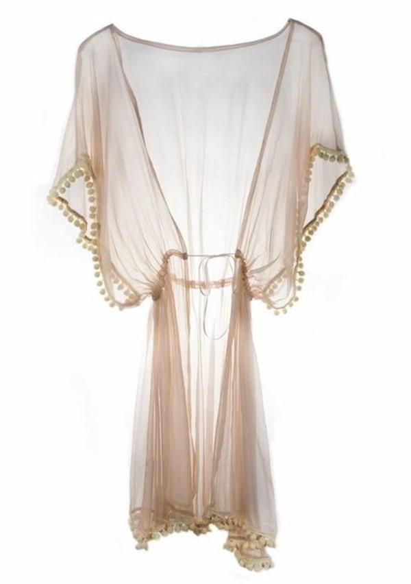 cardigan wedding night dressing gown white