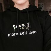 sweater,yeah bunny,sweatshirt,cute,more love,ove,floral,flowers,hoodie,black
