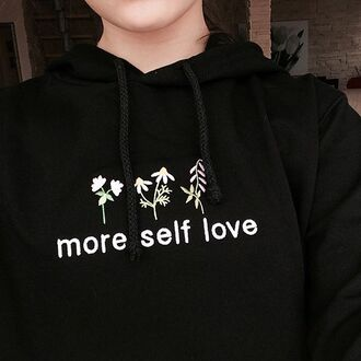 sweater yeah bunny sweatshirt cute more love ove floral flowers hoodie black