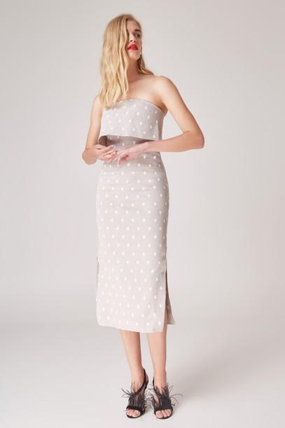 C/MEO COLLECTIVE dress love grey
