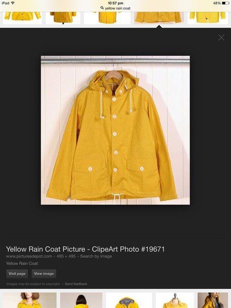 coat yellow coat raincoat yellow