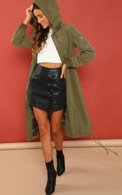 jacket,girly,girl,girly wishlist,olive green,hooded jacket,cargo jacket