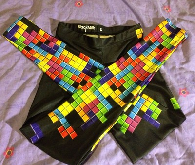 Black milk retro gamer (tetris) leggings size s
