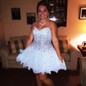 dress min blue diamonds short homecoming