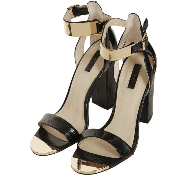 TOPSHOP RHODIUM Metal Trim Heels