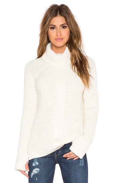 sweater turtleneck turtleneck sweater loose cream