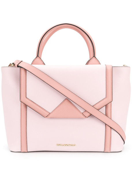 karl lagerfeld women leather purple pink bag