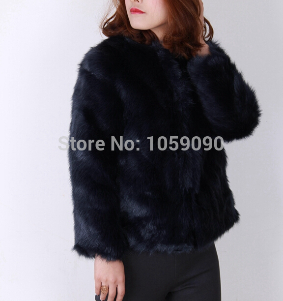 Aliexpress.com : buy fashion brand za genuine original authentic 2014 winter new women navy blue faux fur jacket coat female shaggy furry cardigan from reliable cardigan stripe suppliers on vogue official online shop