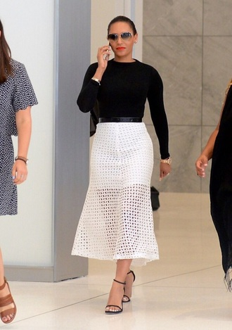 skirt top mesh skirt mesh mel b white midi skirt
