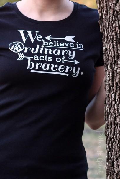 t-shirt divergent shailene woodley black t-shirt new years resolution