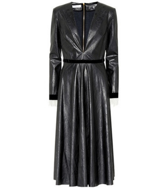Philosophy Di Lorenzo Serafini Faux leather dress in black
