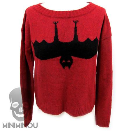 Blusa tricô jacquard Morcego - Miniminou