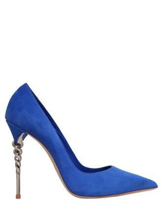 suede pumps pumps suede blue sky blue shoes