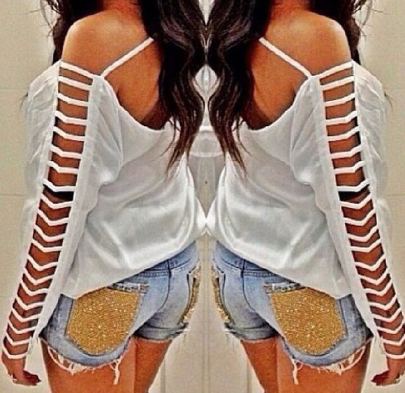 blouse white blouse summer