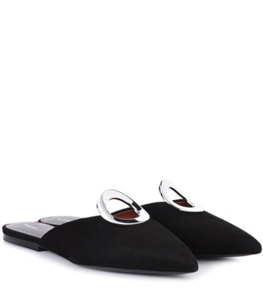 Proenza Schouler Suede slippers in black