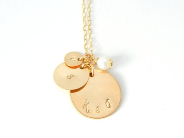 jewels gold necklace gold jewelry hand stamped etsy mom spring outfits summer