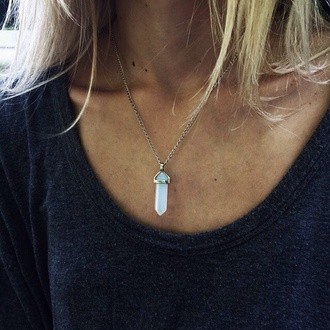 jewels necklace atlantis crystal stone grunge necklac ston pendant fashion gem gemstone point cute