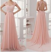 dress,flowers on back,backless dress,peach dress,long gown,prom dress,pretty,pink dress,long dress,long prom dress,long pink dress,opened back dress,soft pink dress,pink,flowers,floral,black,cute,lovely,classy,girly,wedding dress,prom,party,fast,911,open back,open back dresses,open back prom dress,pink prom dress,chiffon pink prom dress,long blush pink prom dress,chiffon skirt,chiffon dress,empire waist dresses,2016 long pink prom dress,prom dresses 2016,unique prom dresses 2016,beautiful unique prom dresses