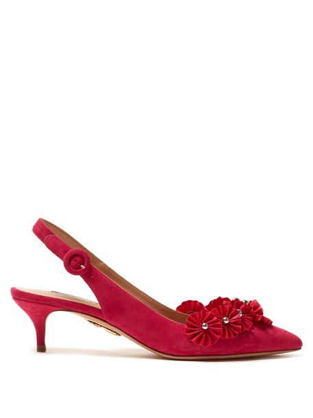 Aquazzura suede pumps pumps suede pink shoes