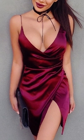 dress,mini dress,sleeveless,sleeveless dress,sexy s,exy dress,sexy party dresses,party dress,summer dress,date dress,red dress,burgundy dress,dark red,dark red dress,chic,chic dress,casual chic,club dress,event dress,asymmetrical,slit,front slit,satin dress,hot dress,clubwear,elegant dress,draped drses,short dress,style,stylish,stylish dress,prepy,holiday dress,vacation dress,street,streetwear,casual,urban,tumblr dress,moraki,asymmetrical dress,bodycon dress,bodycon,streetstyle,tumblr girl