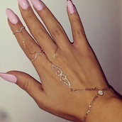 jewels,bracelets,pretty,gorgeous,diamonds,rhinestones,ring,hand chain,body kandy couture,hand chain ring,bracelet ring,ring bracelet,chain ring bracelet,bridal hand jewelry,indian wedding jewelry,shaadi,double chain ring,rose gold,Hand bracelet ring,nails,silver