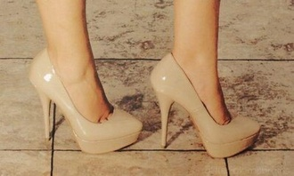 shoes beige light brown light brown wedges brown high heels high heels beige shoes