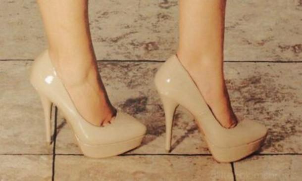 5219692c3e4 shoes beige light brown light brown wedges brown high heels high heels  beige shoes