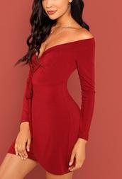 dress,girly,girl,girly wishlist,red dress,red,off the shoulder,off the shoulder dress,mini dress,mini