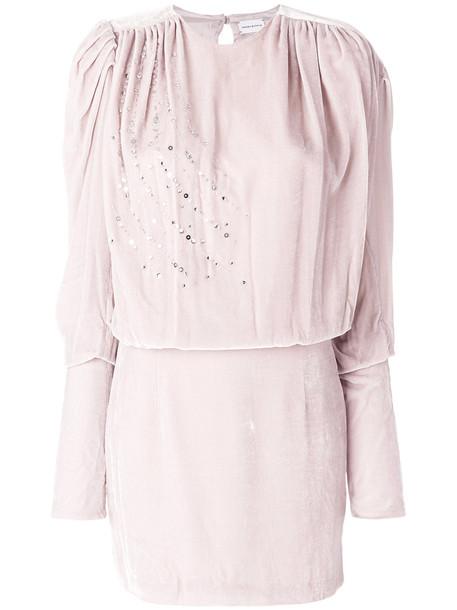 Magda Butrym dress flare dress flare women fit silk purple pink