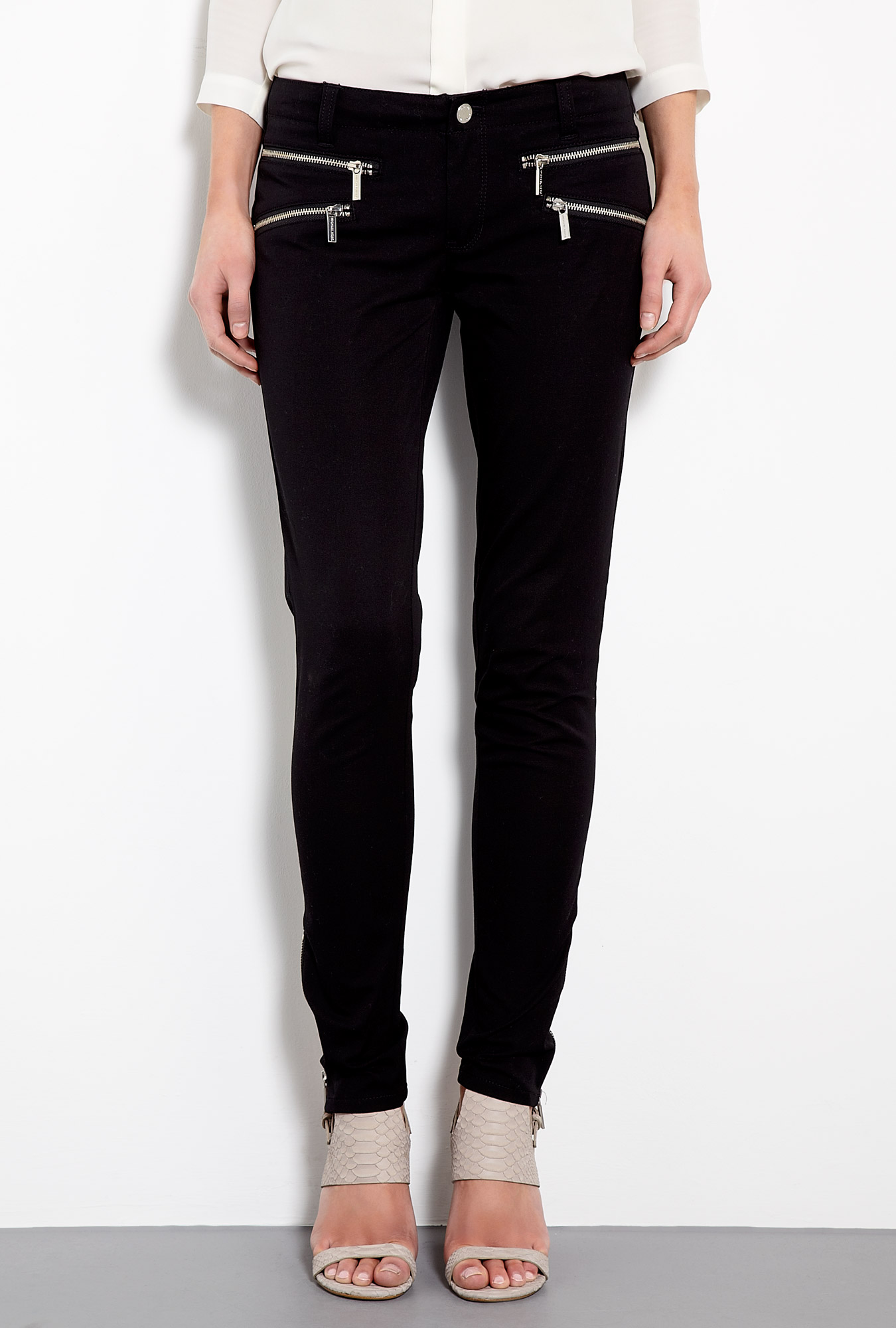 michael michael kors rocker zip skinny jeans by michael michael kors. Black Bedroom Furniture Sets. Home Design Ideas