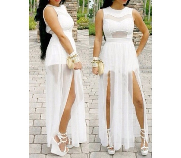 white dress maxi dress long dress cute dress