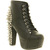 Jeffrey Campbell Lita Platform Ankle Boot Black Spike - Ankle Boots