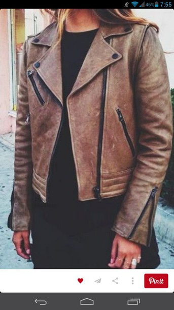 jacket brown leather jacket leather jacket jackt style streetstyle streetwear