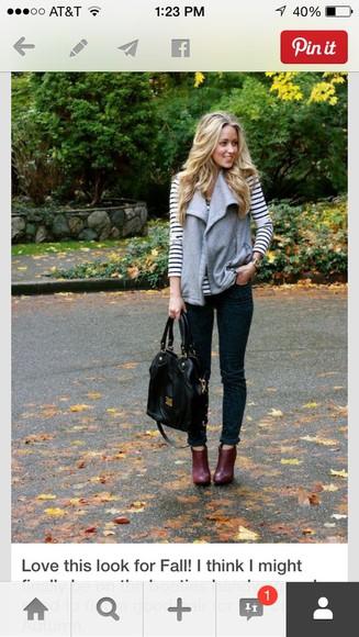 vest blouse drapey