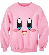 sweater,pink,kirby