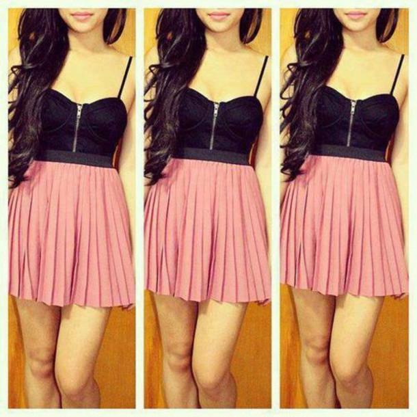 Pink Tank Mini Dress