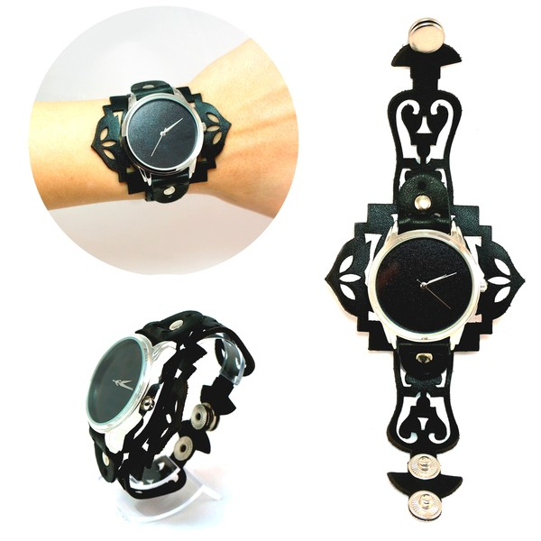 jewels ziz watch watch watch leather watch black black watch exclusive watch unique watch unusual watch designer watch ziziztime