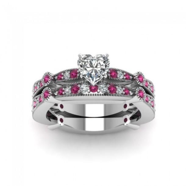 Jewels fine jewelry set evolees women s fashion heart shaped diamo