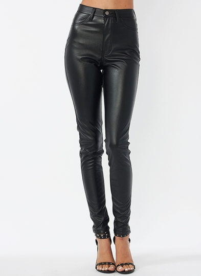 Faux-Leather-Biker-Babe-Pants BLACK - GoJane.com