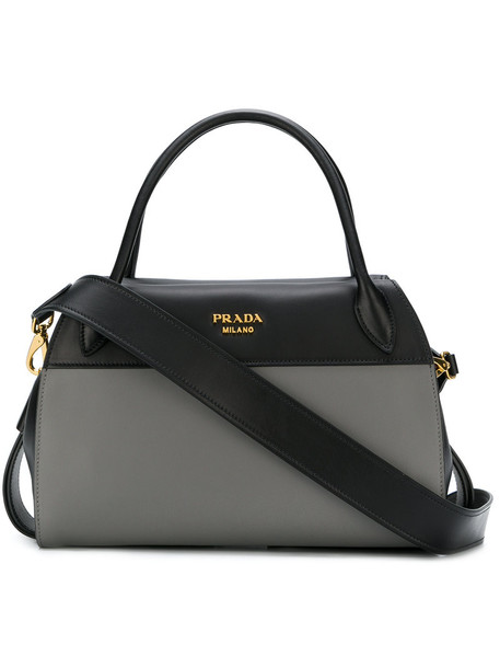 Prada women bag tote bag leather black