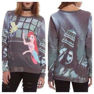 disney sweater ariel the little mermaid