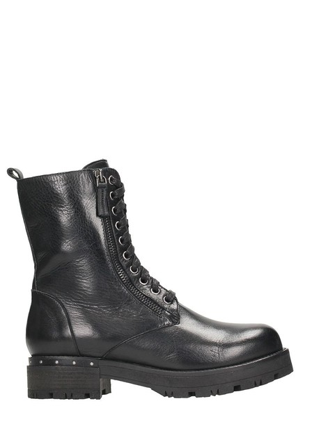 Julie Dee biker boots leather black black leather shoes