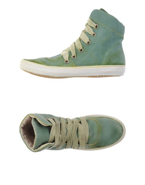 shoes gidigio high-tops trainers sneakers green
