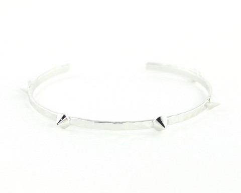 Wanderlust   Co - Multi-Stud Silver Bangle