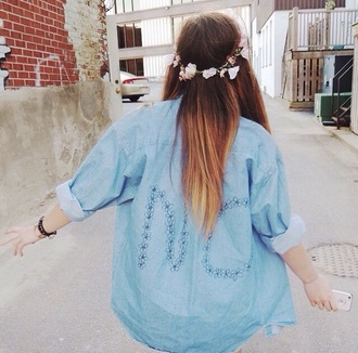 flannel shirt blue indie blouse hipster oversized tumblr oversized sweater summer