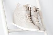 shoes,wedge sneakers,cream wedge sneaker wedge