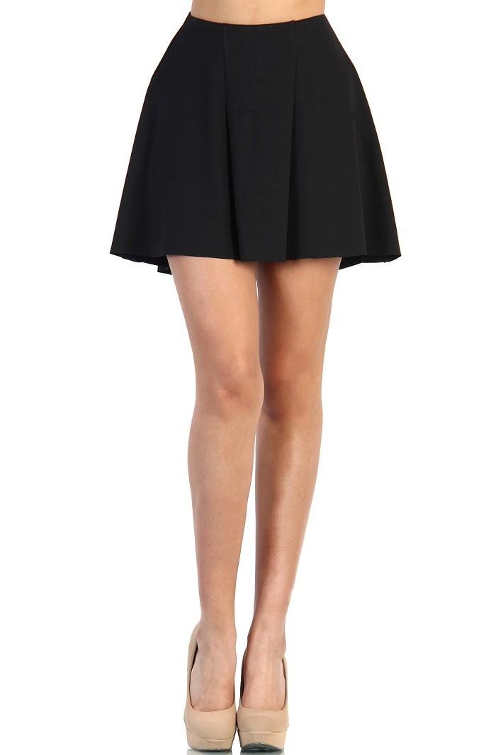 high low skater skirt black